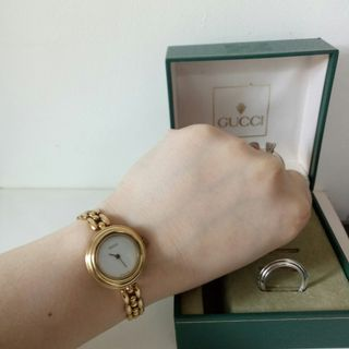 383a62f7b16 Auth Gucci Rice Link Watch