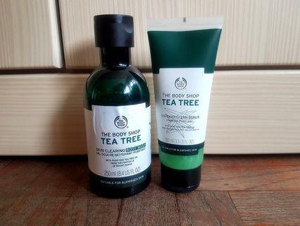 The Body Shop Tea Tree Scrub & Body Wash