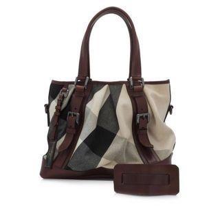 Preloved Burberry Canvas Bag