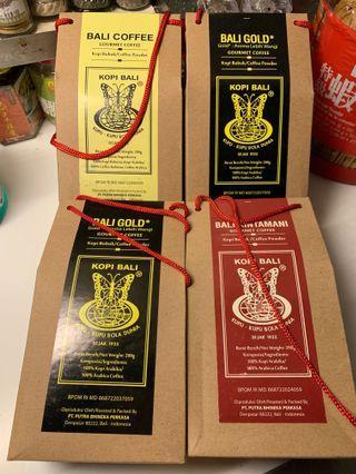 bali coffee powder 印尼峇厘咖啡粉 4 pack