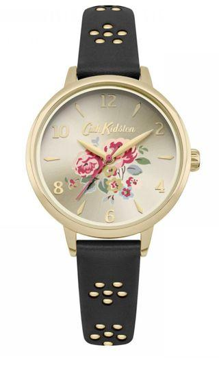 Price Reduced !! Cath Kidston Floral Well Rose Leather Watch