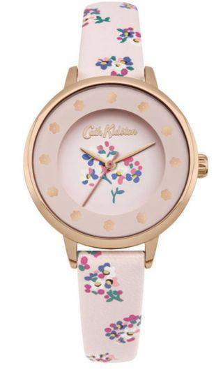 Price Reduced !! Cath Kidston WoodStock Ditsy Rose Gold Leather Watch