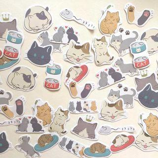 Kitty cats (boxed) flake stickers