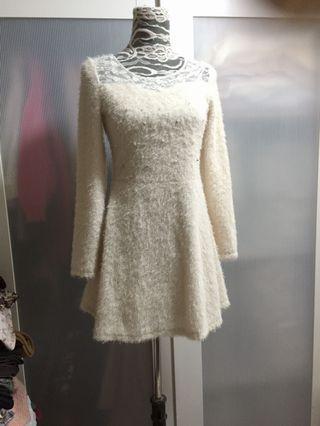 Creamy dress, spring, autumn, winter, no bargaining