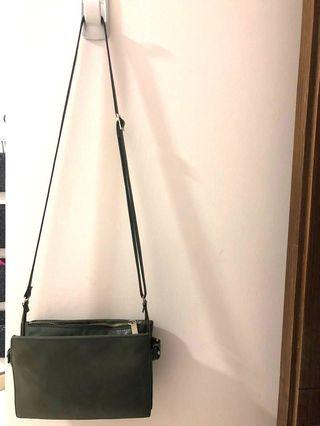 🚚 Rabeanco Dark Olive Green Cross Body Bag