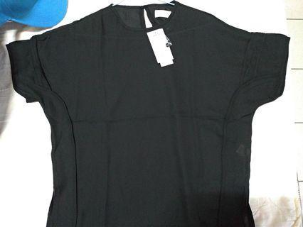 🚚 黑色透明薄紗上衣