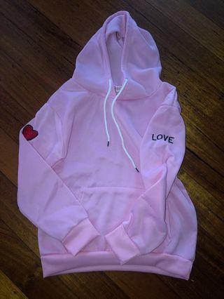 Pink heart hoody