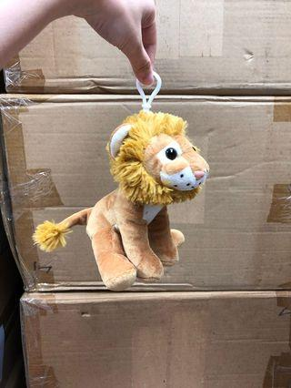 發聲獅子毛公仔匙扣