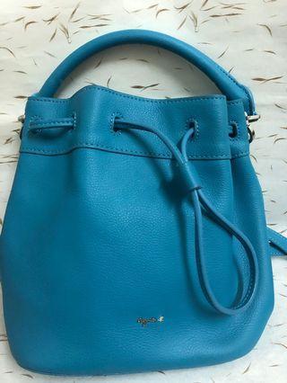 🚚 agnes b.水藍色小型水桶包