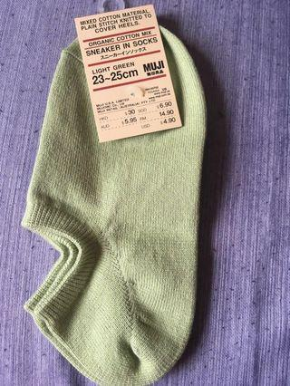 Muji Organic Cotton Mix Snicker Socks (Light Green) #SnapEndGame #CherasLM #SuriaKLCC