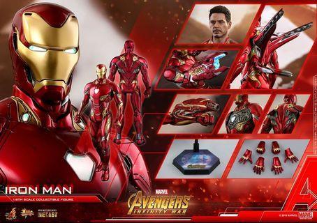 Hot toys ironman 鐵甲奇俠 mk50 1:6比例合金珍藏人偶訂單 + 300