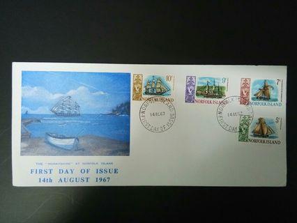 1967 FDC Norfolk Island