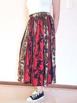 Boho festival flowy skirt