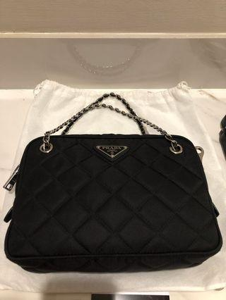 prada crossbody tessuto impuntu sling bag 26*20*5cm bought in 2019 (dustbag, card, copy receipt)
