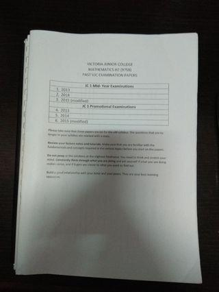 H2 Math Bundle Package