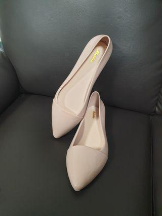 (BN) Nude covered shoes size 38