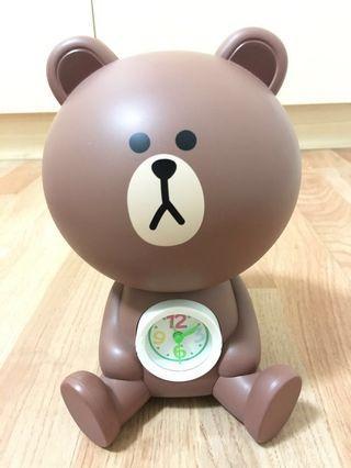 🚚 熊大時鐘鬧鐘存錢筒