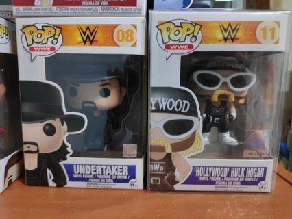 Funko Pop WWE Undertaker and Hulk hogan