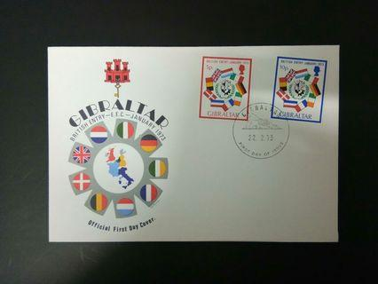 1973 FDC Gibraltar