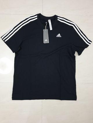 BNWT NEW Authentic Adidas Men's ESS 3s Tee Black M