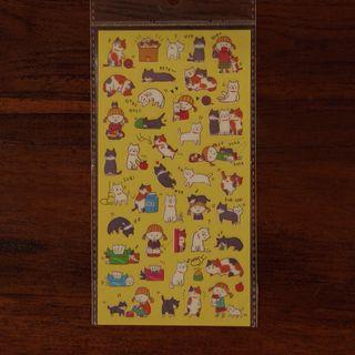 Four Sets of Stickers Cats and Dogs