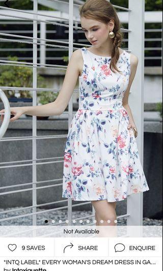 INTOXIQUETTE Every Woman's Dream Dress in Garden Florals