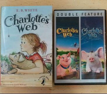 Charlotte's Web Book & 2 DVDs (1973 & 2006)