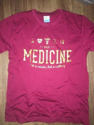 NUS medicine Sun Tee Shirt Red