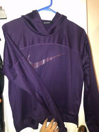 Nike Running Hooded Jumper Purple