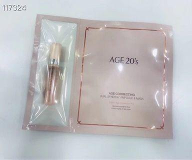 $50/5韓國AGE20's煥顏抗衰雙效安瓿精華面膜
