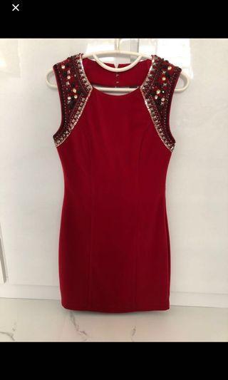 Love bonito LB covet dress in red