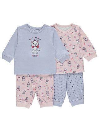 英國直送 Disney Marie 迪士尼 富貴貓 嬰兒套裝 運動裝 睡衣