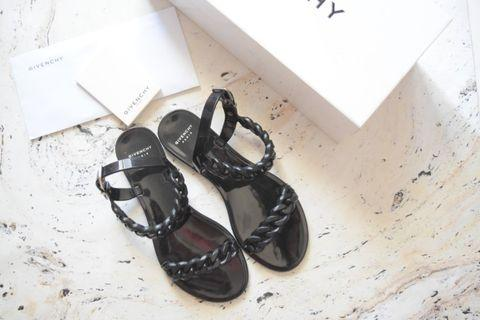 Givenchy Plate Noir Jelly Sandals