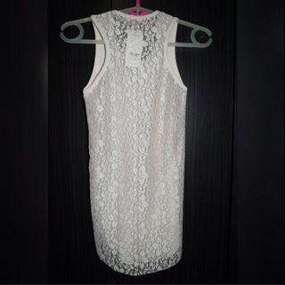 🚚 Baby Pink Lace Tank Top Sheer