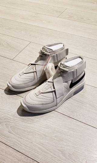 Nike + Fear of God US 10 High-Top Nubuck Suede Canvas Sneakers