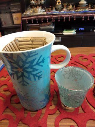 🚚 Set of mug with candle vase