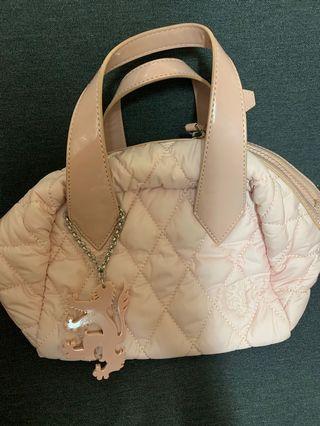 英國名牌Pringle of Scotland 1815 pink handbag NEW