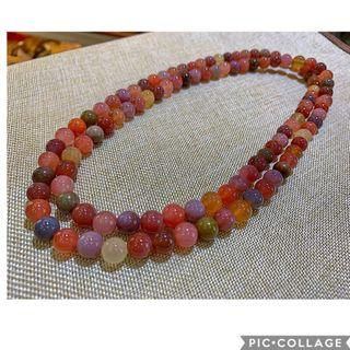 🚚 Yan Yuan Agate Necklace (also can be bracelet) 0.85mm盐源码瑙