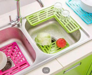 Plastic Foldable Kitchen Sink Rack/Cup Drainer