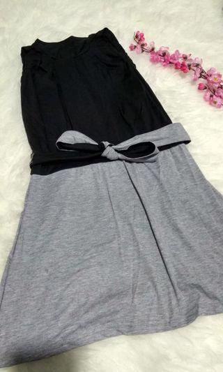 Dress black grey