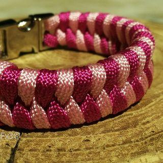 Fishtail Paracord Bracelet with Silver Buckle