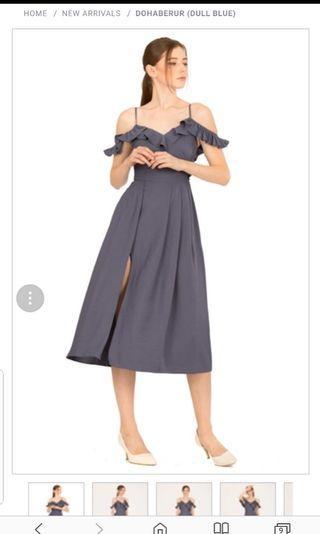 Dohaberur Dress - Dull Blue DW