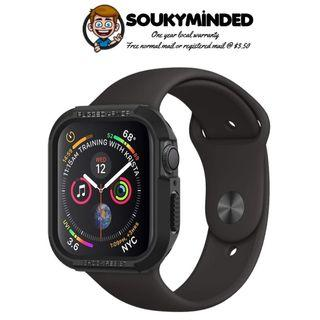 [IN-STOCK] Spigen Rugged Armor Designed for Apple Watch Case for 44mm Series 4 (2018) - Black