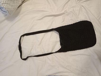 Knit sling bag