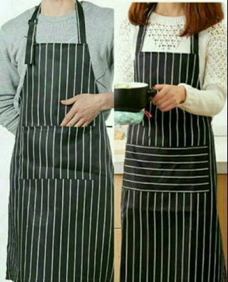 BN Black Strips Cooking / Kitchen Apron