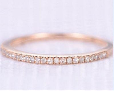 Stacking ring wedding engagement band moissanite diamonds