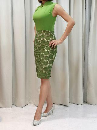 Doublewoot Green Lace Dress