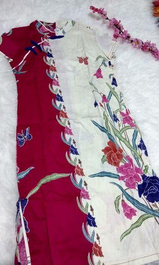 Dress cheongsam batik