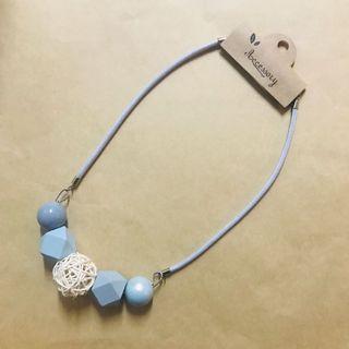 🈹韓國粉藍色珠珠頸鏈