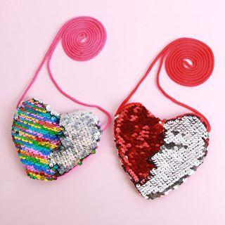 🚚 [AVAILABLE] Heart Sequin Pouch